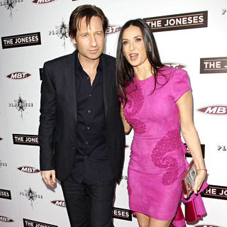 David Duchovny, Demi Moore in Los Angeles Premiere of 'The Joneses'
