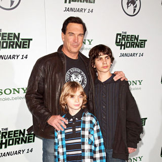 "Patrick Warburton, Shane Warburton, Gabriel Warburton in Premiere of Columbia Pictures ""The Green Hornet"" - Arrivals"