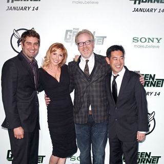 "Tory Belleci, Kari Byron, Adam Savage, Grant Imahara in Premiere of Columbia Pictures ""The Green Hornet"" - Arrivals"