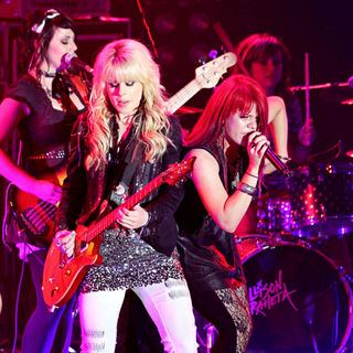 Orianthi, Allison Iraheta in In Concert at The Nokia Theater as Part of Glam Nation Tour