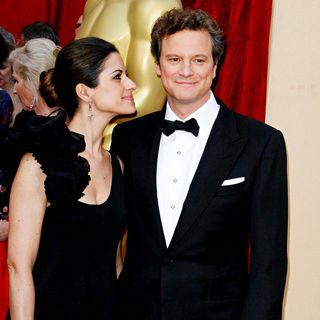 Colin Firth, Livia Giuggioli in The 82nd Annual Academy Awards (Oscars) - Arrivals