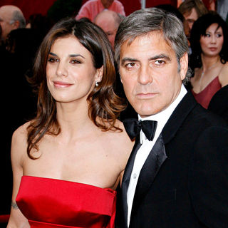 George Clooney, Elisabetta Canalis in The 82nd Annual Academy Awards (Oscars) - Arrivals
