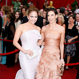 Jennifer Lopez, Demi Moore in The 82nd Annual Academy Awards (Oscars) - Arrivals
