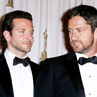 Bradley Cooper, Gerard Butler in The 82nd Annual Academy Awards (Oscars) - Press Room