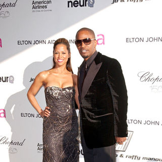 Stacey Dash, Jamie Foxx in 18th Annual Elton John AIDS Foundation Academy Awards (Oscars) Viewing Party - Arrivals