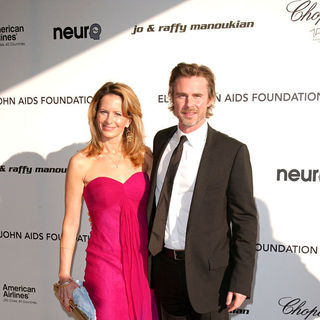 Missy Yager, Sam Trammell in 18th Annual Elton John AIDS Foundation Academy Awards (Oscars) Viewing Party - Arrivals