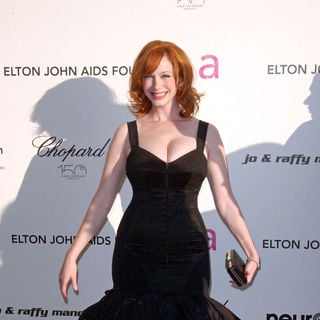 Christina Hendricks in 18th Annual Elton John AIDS Foundation Academy Awards (Oscars) Viewing Party - Arrivals