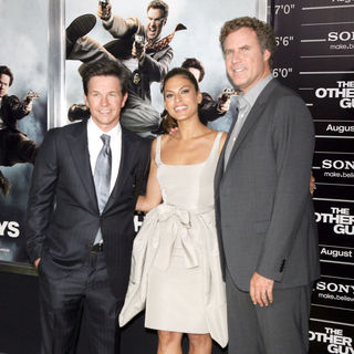 Mark Wahlberg, Eva Mendes, Will Ferrell in The NY Movie Premiere of 'The Other Guys'