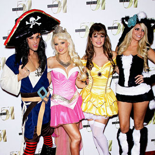 Josh Strickland, Holly Madison, Laura Croft, Angel Porrino in 2nd Annual 'Hollyween' Party Hosted by Holly Madison