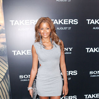 Claudia Jordan in Los Angeles Premiere of 'Takers' - Arrivals