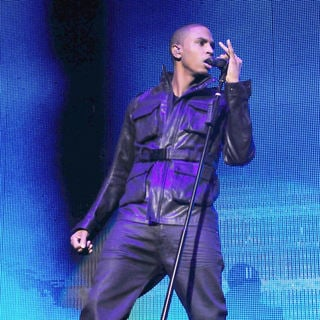 Trey Songz  performs on stage during the opening night of Jay-Z's Blueprint 3 North American Tour - Trey_Songz_005_wenn5433363