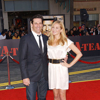 "Jon Hamm, Jennifer Westfeldt in ""The A-Team"" Los Angeles Premiere - Arrivals"