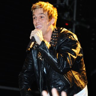 Aaron Carter Performing Live During A Concert