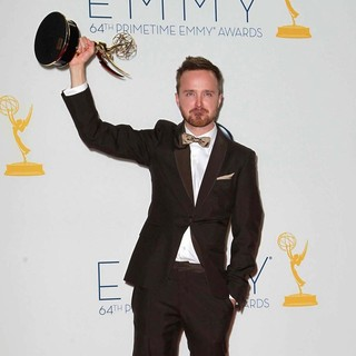 Aaron Paul in 64th Annual Primetime Emmy Awards - Press Room