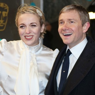 Amanda Abbington, Martin Freeman in The 2013 EE British Academy Film Awards - Arrivals