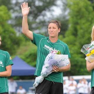 Abby Wambach in The U.S. Women's National Soccer Team Play with The Majicjack Soccer Team