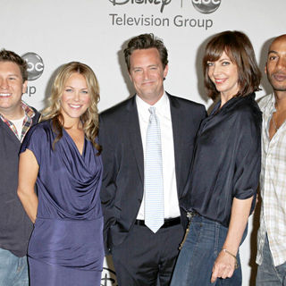 Nate Torrence, Andrea Anders, Matthew Perry, Allison Janney, James Lesure in Disney ABC Family 2010 Summer TCA Tour