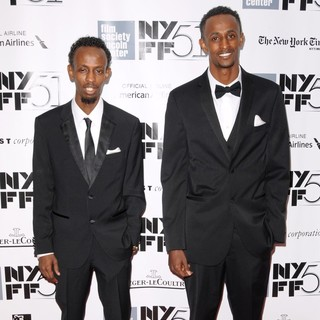 Barkhad Abdi, Faysal Ahmed in The 51st New York Film Festival - Captain Phillips World Premiere - Red Carpet Arrivals