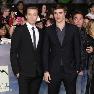 Jake Abel, Max Irons in The Premiere of The Twilight Saga's Breaking Dawn Part II