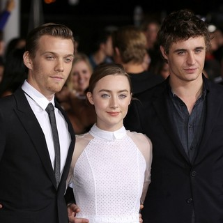 Jake Abel, Saoirse Ronan, Max Irons in The Premiere of The Twilight Saga's Breaking Dawn Part II