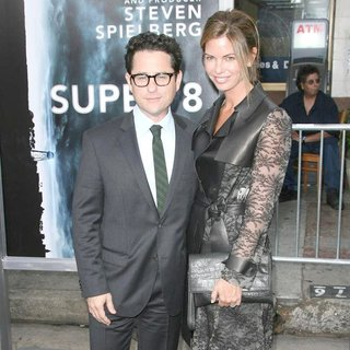 J.J. Abrams, Katie McGrath in Los Angeles Premiere of Super 8