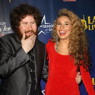Casey Abrams, Haley Reinhart in The 4th Annual Holiday Christmas Tree Lighting Ceremony and The Opening of LA Kings