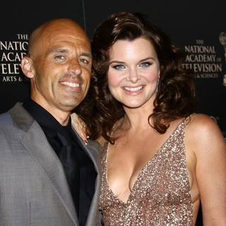 James Achor, Heather Tom in The 40th Annual Daytime Emmy Awards - Arrivals