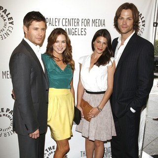 Jensen Ackles, Danneel Harris, Genevieve Cortese, Jared Padalecki in The Supernatural PaleyFest 2011