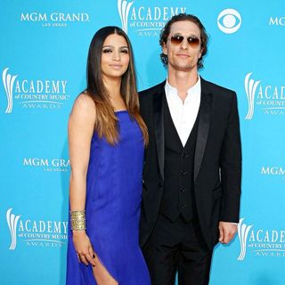 Camila Alves, Matthew McConaughey in The 45th Annual Academy of Country Music Awards