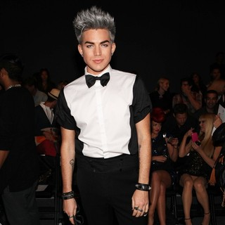 Adam Lambert in Mercedes-Benz New York Fashion Week Spring-Summer 2013 - Falguni and Shane Peacock - Front Row