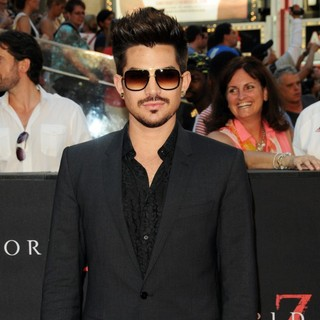 Adam Lambert in New York Premiere of World War Z - Arrivals