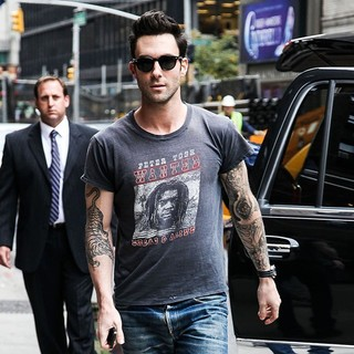 Adam Levine in The Late Show with David Letterman - Arrivals