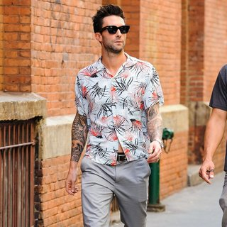 Adam Levine Was Seen Walking in Soho
