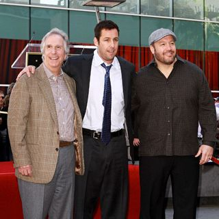 Henry Winkler, Adam Sandler, Kevin James in Adam Sandler Is Honored on The Hollywood Walk of Fame and Receives His Star