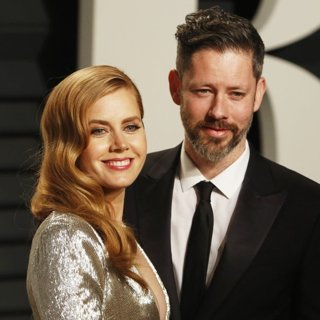 Amy Adams, Darren Le Gallo-2017 Vanity Fair Oscar Party - Arrivals