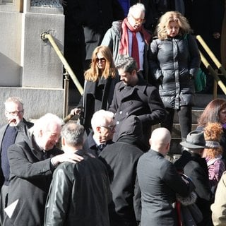 Amy Adams, Darren Le Gallo in The Funeral of Philip Seymour Hoffman