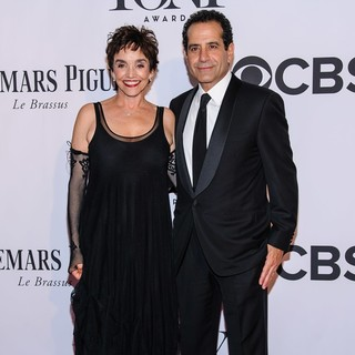 Brooke Adams, Tony Shalhoub in The 67th Annual Tony Awards - Arrivals