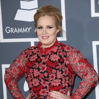 Adele in 55th Annual GRAMMY Awards - Arrivals - adele-55th-annual-grammy-awards-04