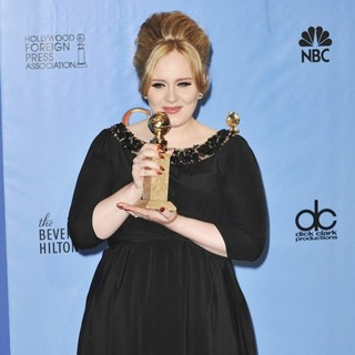 Adele in 70th Annual Golden Globe Awards - Press Room