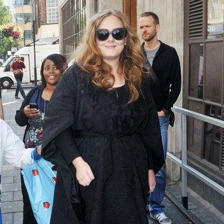 Adele in Adele at The BBC Radio 1 Studios