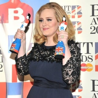 Adele in The BRIT Awards 2012 - Winners Board