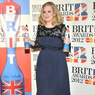 Adele - The BRIT Awards 2012 - Winners Board
