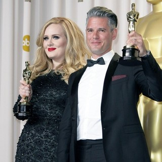 Adele, Paul Epworth in The 85th Annual Oscars - Press Room