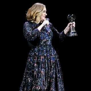 Adele in Adele Wins An Award Whilst on Stage in Birmingham