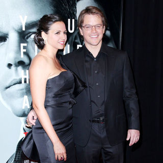 Luciana Barroso, Matt Damon in New York Premiere of 'The Adjustment Bureau'