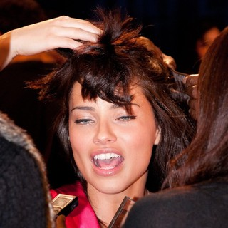 Adriana Lima in 2011 Victoria's Secret Fashion Show - Backstage