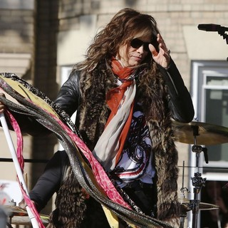 Steven Tyler, Aerosmith in Aerosmith Perform in Front of 1325 Commonwealth Ave, Which Was Their Home in The Early 1970's