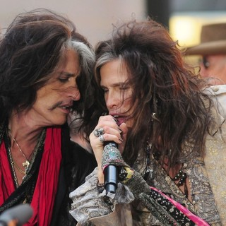 Joe Perry, Steven Tyler, Aerosmith in Aerosmith Performing Live During The Today Show Concert Series