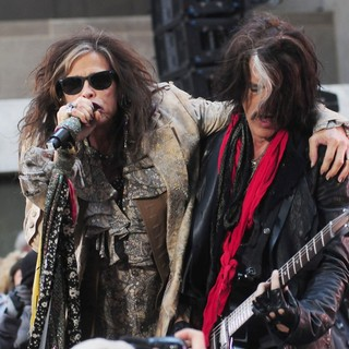 Steven Tyler, Joe Perry, Aerosmith in Aerosmith Performing Live During The Today Show Concert Series