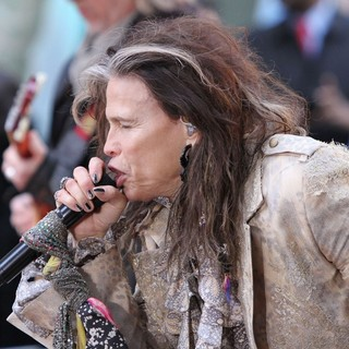 Steven Tyler, Aerosmith in Aerosmith Performing Live During The Today Show Concert Series
